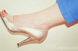 silver peep toes