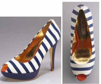 Ted Baker Svana Stripe Court Shoes