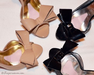 Paris Hilton bow shoes