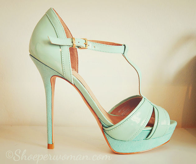 Zara mint green platform sandals