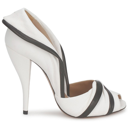 Kallist 39 burro 39 black and white peep toes shoeperwoman for Black and white shows