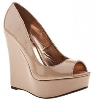Schuh nude platform wedge shoes