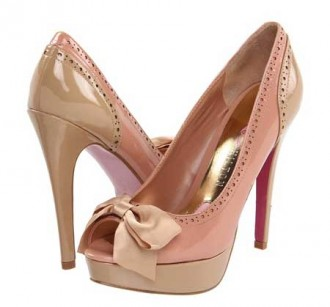 0a9ef64eaf0b Paris Hilton  Sharri  pink peep toe bow pumps