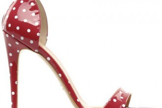 red polka dot sandals