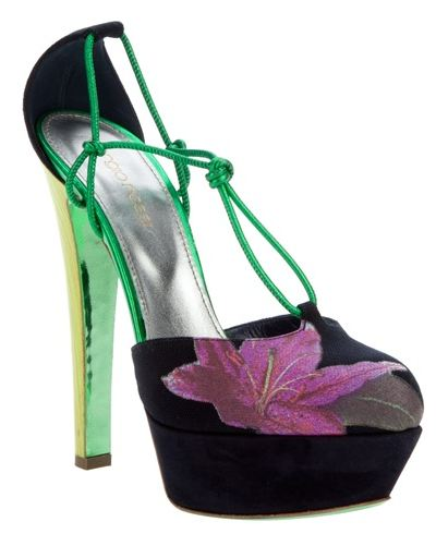 sergio rossi flower sandals