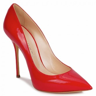 c2e789dd75f Casdei  Agathe  red patent point-toed peep toes
