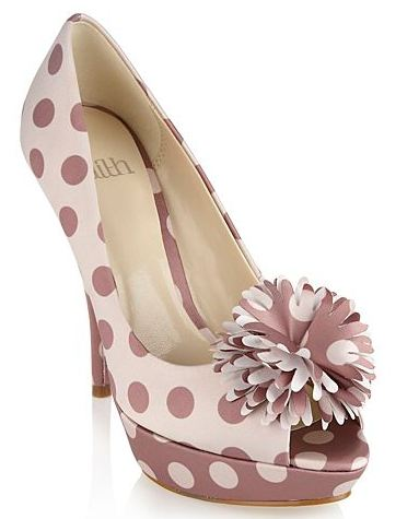 Faith polka dot peep toes