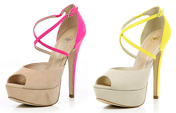 River Island fluorescent shoes