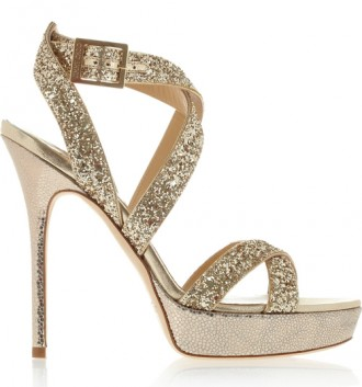 e9691c10844 Jimmy Choo Hawk glittered leather platform sandals