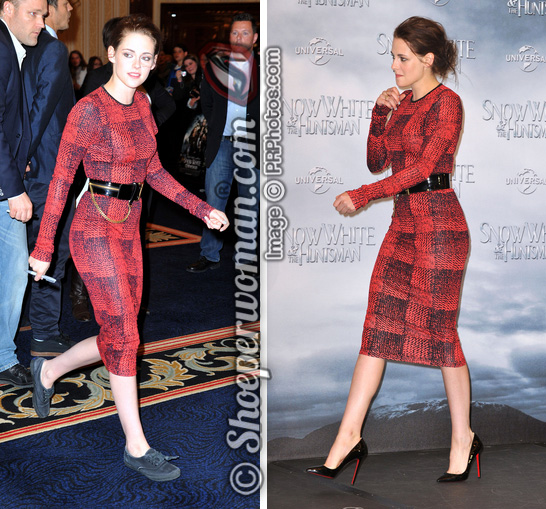premium selection 2e0b5 23ff1 Kristen Stewart switches Christian Louboutin's Pigalle pumps ...