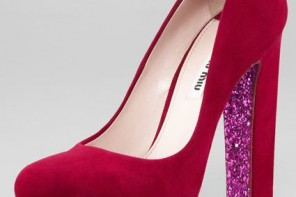 Miu Miu glitter sole pumps