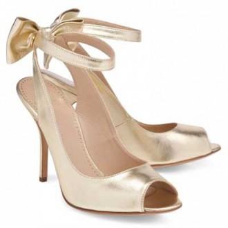 Moschino Cheap & Chic gold bow sandals