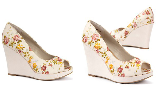 New Look floral wedges