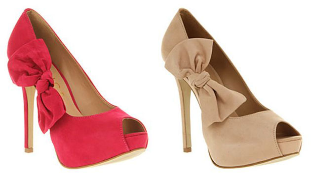 Office 'Kind' bow peep toes