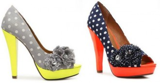 polka dot peep toe shoes