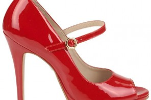 red patent Mary janes