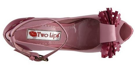 two lips shoes with bows