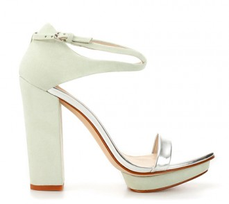 Zara mint and silver sandals