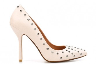 zara white studded court shoes