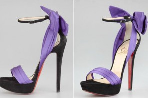 Christian Louboutin Vampanodo Satin Bow Sandals