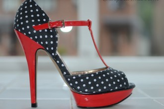 Schuh 'Betsey' polka-dot t-bar shoes