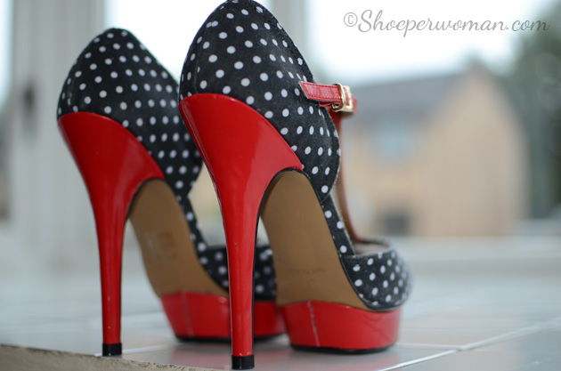Schuh 'Betsey' polka dot t-bar shoes