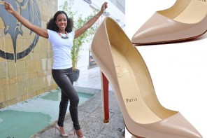 Kelly Rowland in Christian Louboutin Pigalle pumps