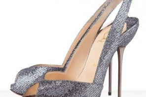 Christian Louboutin Boulimina 120 glittered-leather slingbacks