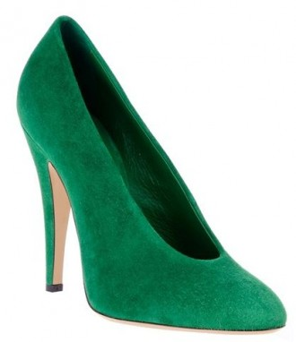 Casadei green suede court shoes