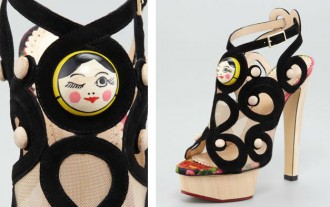Charlotte Olympia Matryoshka Suede Sandals