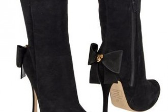 dsquared2 bow back ankle boots