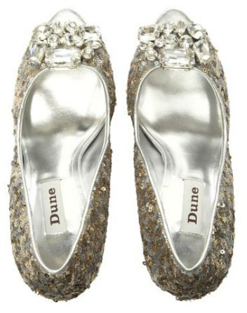 Dune Denby sequin glitter shoes