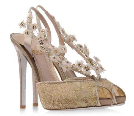 Rene Caovilla lave and satin slingbacks