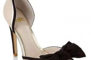 Faith cream bow peep toes