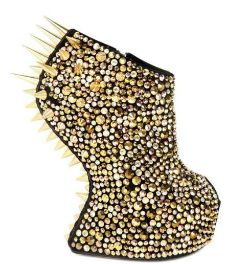 Giuseppe Zanotti 150mm suede spiked sculptural wedges