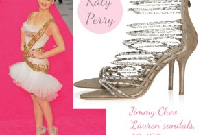 Katy Perry in Jimmy Choo 'Lauren' sandals