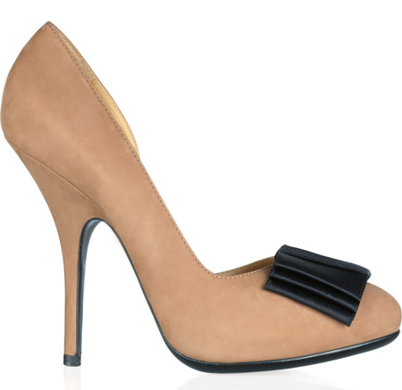 Lanvin nubuck pumps with bow
