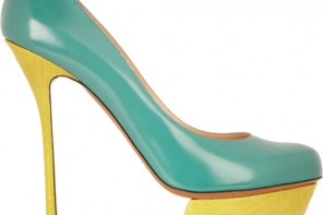 Nicholas Kirkwood leather and watersnake platform pumps