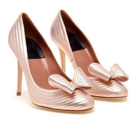 pink high heeled shoes