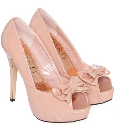 Light Pink Peep Toe Heels | Fs Heel