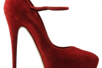 red suede mary janes