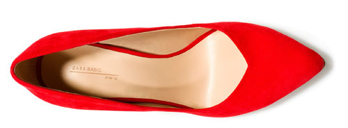 Red Zara court shoes