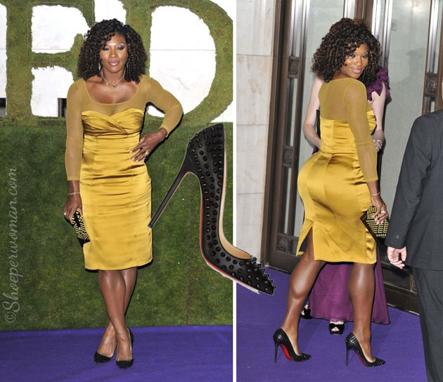 Serena Williams in Christian Louboutin Pigalle 120 spiked pumps