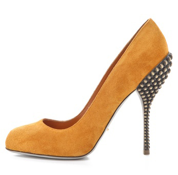 Sergio Rossi yellow suede shoes