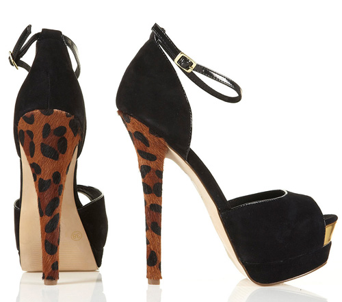 Topshop 'Loaded' leopard print heels
