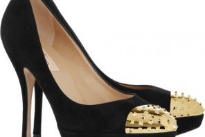 Valentino studded toecap pumps