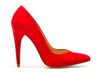 ec54e729d37 Zara red suede court shoes with pointed toes