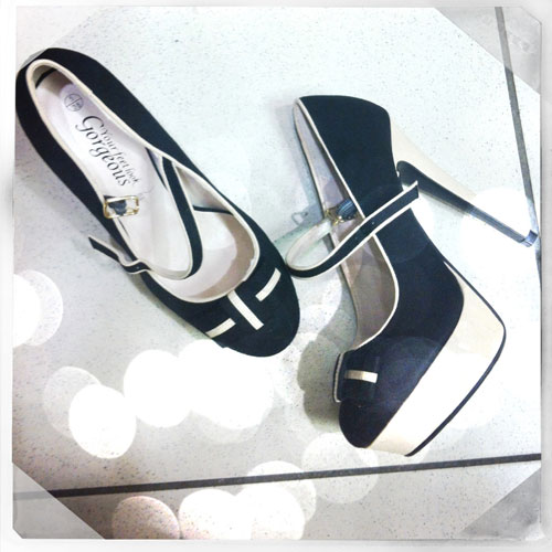 black and white mary janes