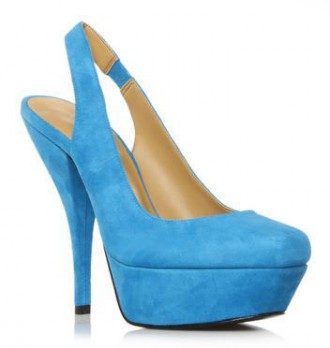 blue suede slingback shoes