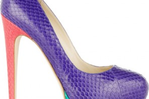 Brian Atwood colourblock patform pumps
